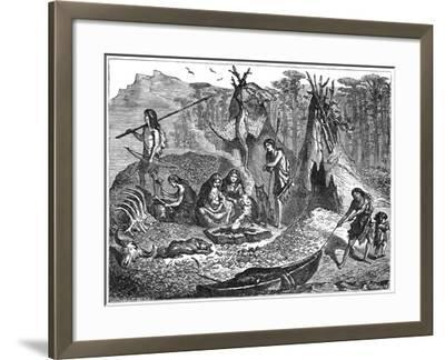 Shell Mound People, 4000-2000 BC--Framed Giclee Print
