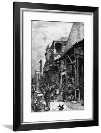 A Market Place in San Francisco, California, USA, Mid 19th Century--Framed Giclee Print