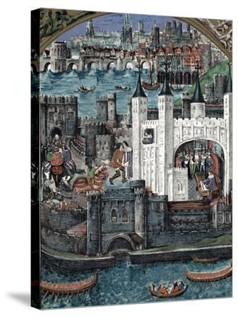 Henry VII at the Tower of London, 1485-1509--Stretched Canvas Print