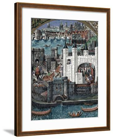 Henry VII at the Tower of London, 1485-1509--Framed Giclee Print