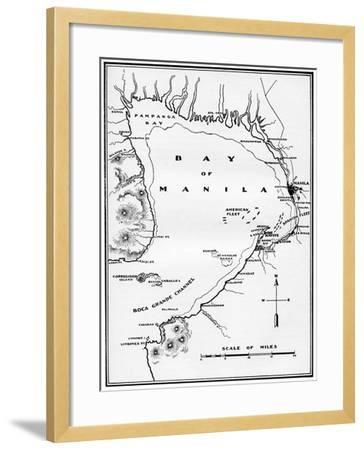 Spanish American War Philippines Map.Battle Of Manila Bay Philippines Spanish American War 1898 Giclee