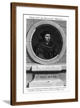 Sir Thomas More, Catholic English Lawyer, Writer, and Politician-Hans Holbein the Younger-Framed Giclee Print
