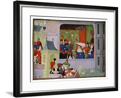 Interview of Richard II and the Duke of Gloucester, 14th Century--Framed Giclee Print