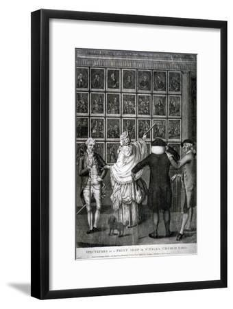 Spectators at a Print Shop in St Paul's Church Yard, C1770--Framed Giclee Print