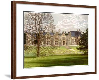 Exton House, Rutland, Home of the Earl of Gainsborough, C1880-AF Lydon-Framed Giclee Print