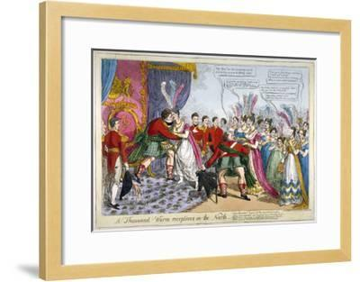 A Thousand Warm Receptions in the North, 1823--Framed Giclee Print
