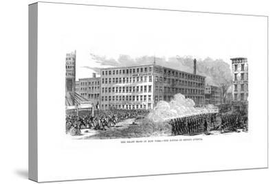 The New York Draft Riots, Second Avenue, New York City, 13-16 July 1863--Stretched Canvas Print