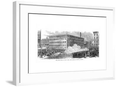 The New York Draft Riots, Second Avenue, New York City, 13-16 July 1863--Framed Giclee Print
