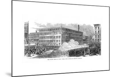 The New York Draft Riots, Second Avenue, New York City, 13-16 July 1863--Mounted Giclee Print