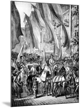 Entry of Archduke John of Austria into Frankfurt, Germany, 11 July 1848--Mounted Giclee Print