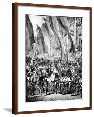 Entry of Archduke John of Austria into Frankfurt, Germany, 11 July 1848--Framed Giclee Print
