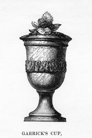 Garrick's Cup, Carved from Shakespeare's Mulberry Tree, 18th Century--Stretched Canvas Print
