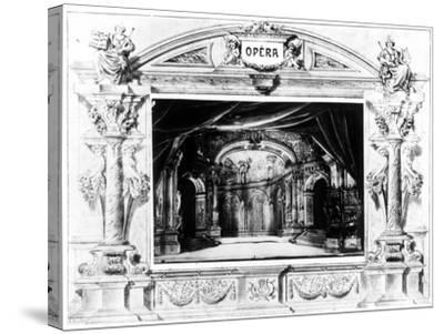 Set Design for Mozart's Don Giovanni, 1875--Stretched Canvas Print