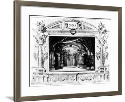 Set Design for Mozart's Don Giovanni, 1875--Framed Giclee Print