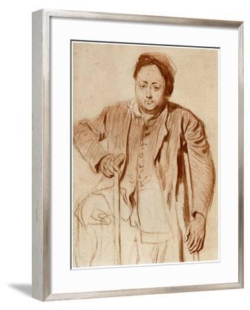 Portrait of a Man on Crutches, C1710-Jean-Antoine Watteau-Framed Giclee Print