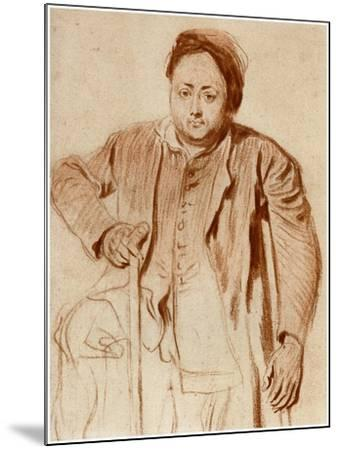 Portrait of a Man on Crutches, C1710-Jean-Antoine Watteau-Mounted Giclee Print