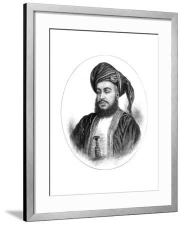 Sayyid Barghash Bin Said, Sultan of Zanzibar, 1875--Framed Giclee Print