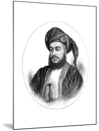 Sayyid Barghash Bin Said, Sultan of Zanzibar, 1875--Mounted Giclee Print