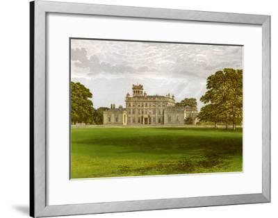 Locko Park, Derbyshire, Home of the Drury-Lowe Family, C1880-AF Lydon-Framed Giclee Print