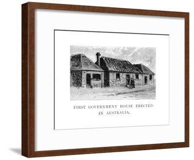 The First Government House, Sydney, Australia--Framed Giclee Print