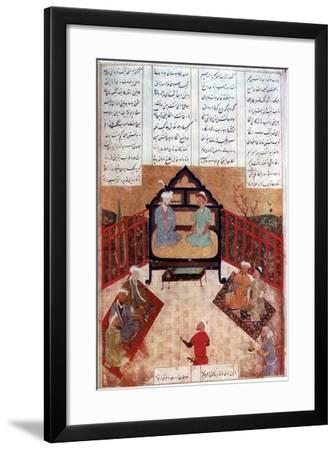 Alexander the Great Talking to Wise Men and Scholars, 4th Century Bc--Framed Giclee Print