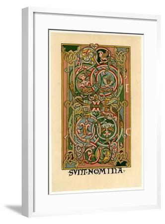 Initial Letter H, 1148--Framed Giclee Print