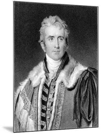 William Pitt Amherst, 1st Earl Amherst of Arracan (1773-185), British Statesman-Thomas Lawrence-Mounted Giclee Print