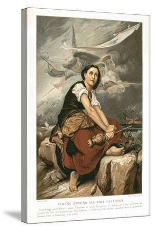 Joan of Arc, the Maid of Orleans, 15th Century French Patriot and Martyr, Mid 19th Century-Francois Leon Benouville-Stretched Canvas Print