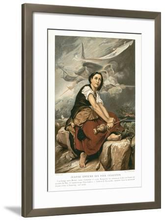Joan of Arc, the Maid of Orleans, 15th Century French Patriot and Martyr, Mid 19th Century-Francois Leon Benouville-Framed Giclee Print