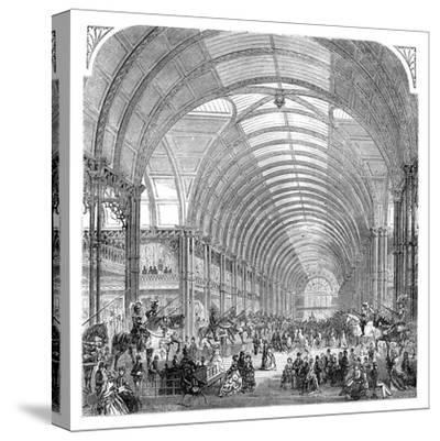 Interior View of the Manchester Exhibition, 1857 (Late 19th Centur)--Stretched Canvas Print
