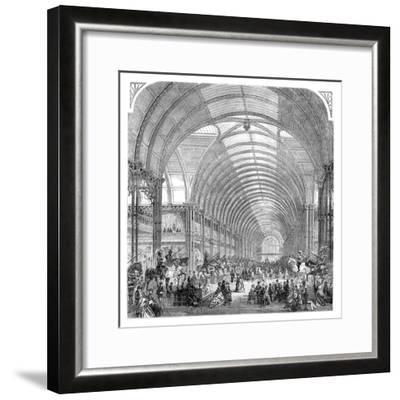 Interior View of the Manchester Exhibition, 1857 (Late 19th Centur)--Framed Giclee Print