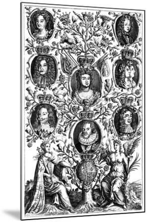 Queen Anne's (1665-171) Family Tree--Mounted Giclee Print