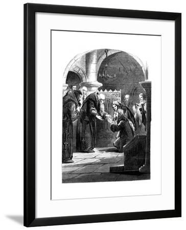 King James II at the Abbey of La Trappe, France--Framed Giclee Print