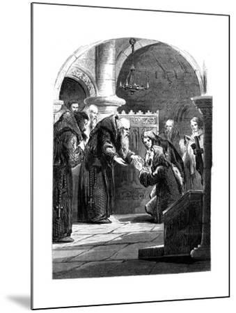 King James II at the Abbey of La Trappe, France--Mounted Giclee Print