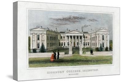 Highbury College, Islington, London, Mid 19th Century--Stretched Canvas Print