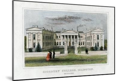 Highbury College, Islington, London, Mid 19th Century--Mounted Giclee Print