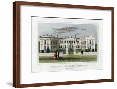 Highbury College, Islington, London, Mid 19th Century--Framed Giclee Print