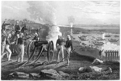 Major Eyre Driving the Oude Rebels from Allahabad, 1857--Framed Giclee Print