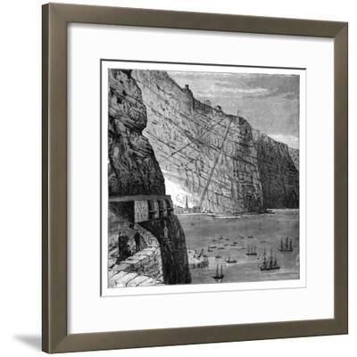 Jacob's Ladder Leading to Munden's Battery, Jamestown, Saint Helena, C1890--Framed Giclee Print