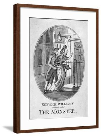 Renwick Williams Commonly Called the Monster, 1790--Framed Giclee Print