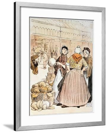 Scene at Covent Garden Fruit and Vegetable Market, London, Early 20th Century--Framed Giclee Print