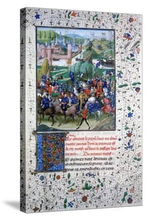 The King of France Leaving for the Crusades, C1336, (145)--Stretched Canvas Print
