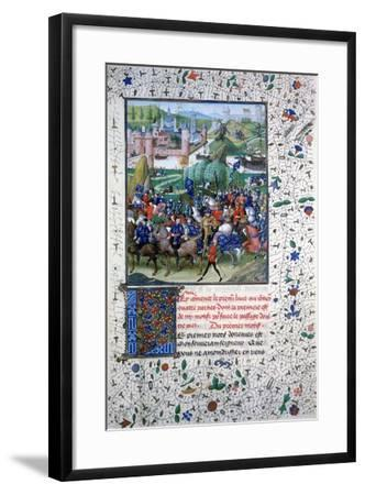 The King of France Leaving for the Crusades, C1336, (145)--Framed Giclee Print