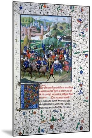 The King of France Leaving for the Crusades, C1336, (145)--Mounted Giclee Print