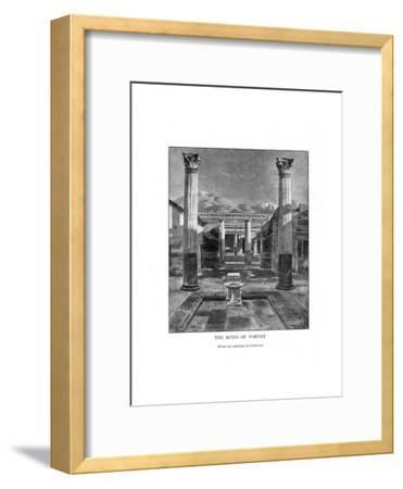 The Ruins of Pompeii, Italy, 19th Century-Carleton Carleton-Framed Giclee Print