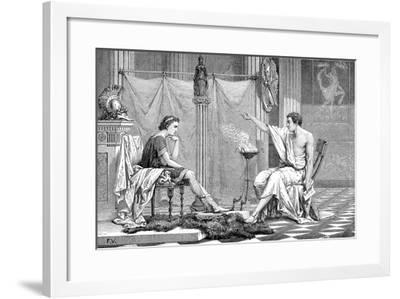 Alexander the Great (356-323 B) as a Youth, Listening to His Tutor Aristotle, C1875--Framed Giclee Print