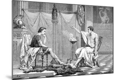 Alexander the Great (356-323 B) as a Youth, Listening to His Tutor Aristotle, C1875--Mounted Giclee Print