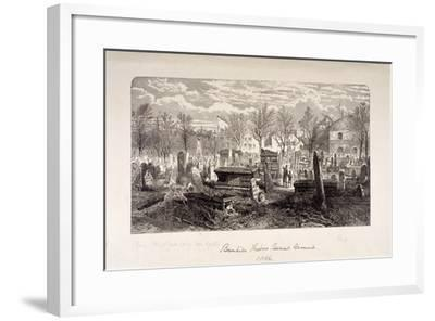 Cemetery at Bunhill Fields, Finsbury, London, 1866--Framed Giclee Print