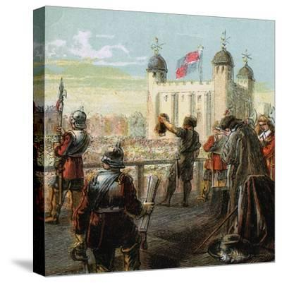 The Execution of Lord Strafford, 1641--Stretched Canvas Print