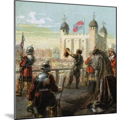 The Execution of Lord Strafford, 1641--Mounted Giclee Print
